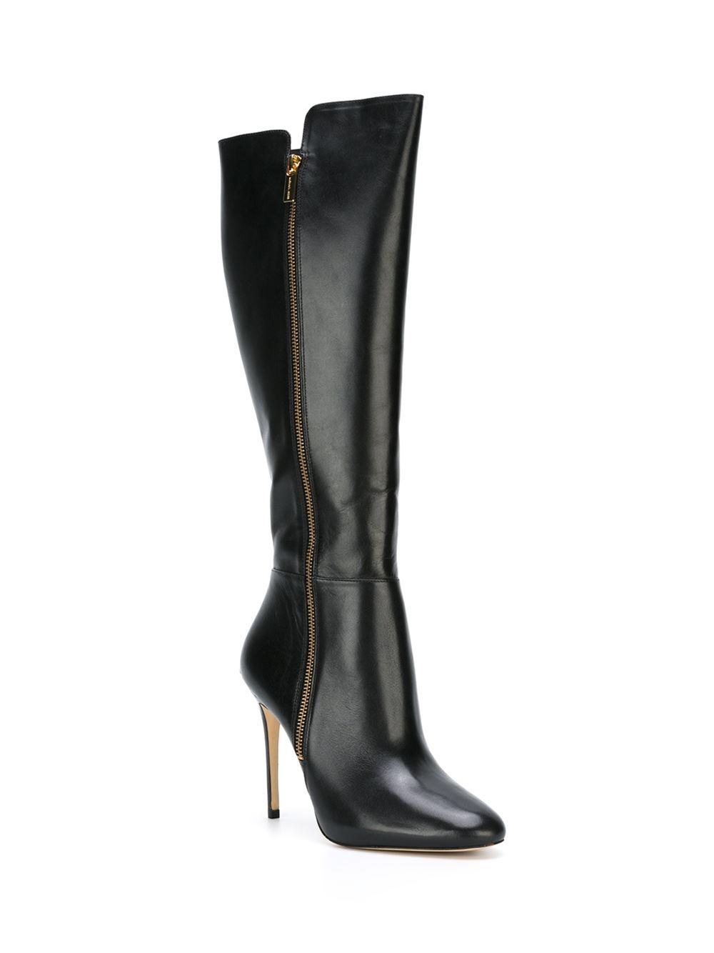 Michael michael kors Knee-High Stiletto Boots in Black | Lyst