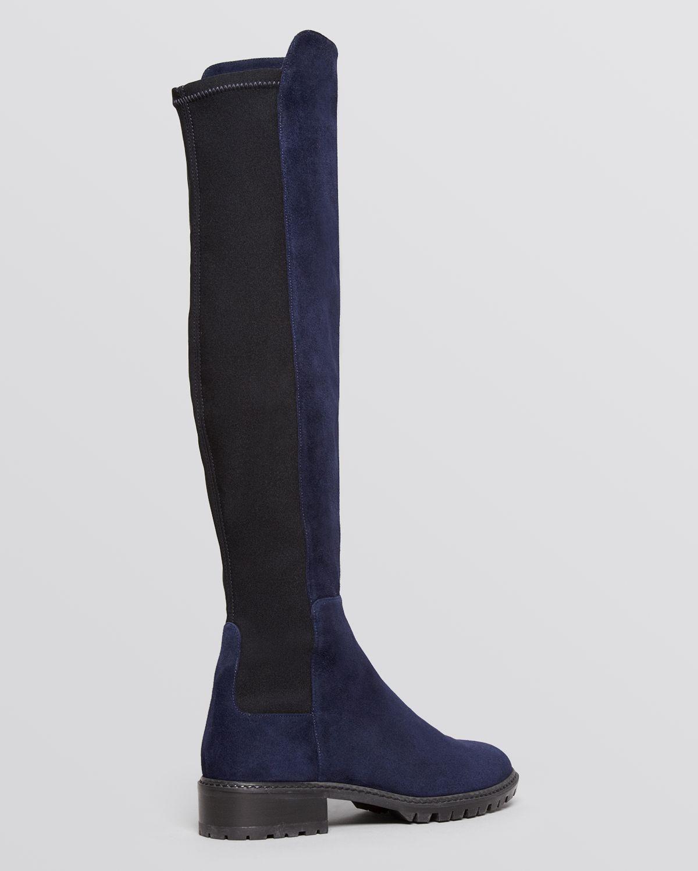 stuart weitzman lugmainline stretch flat boots