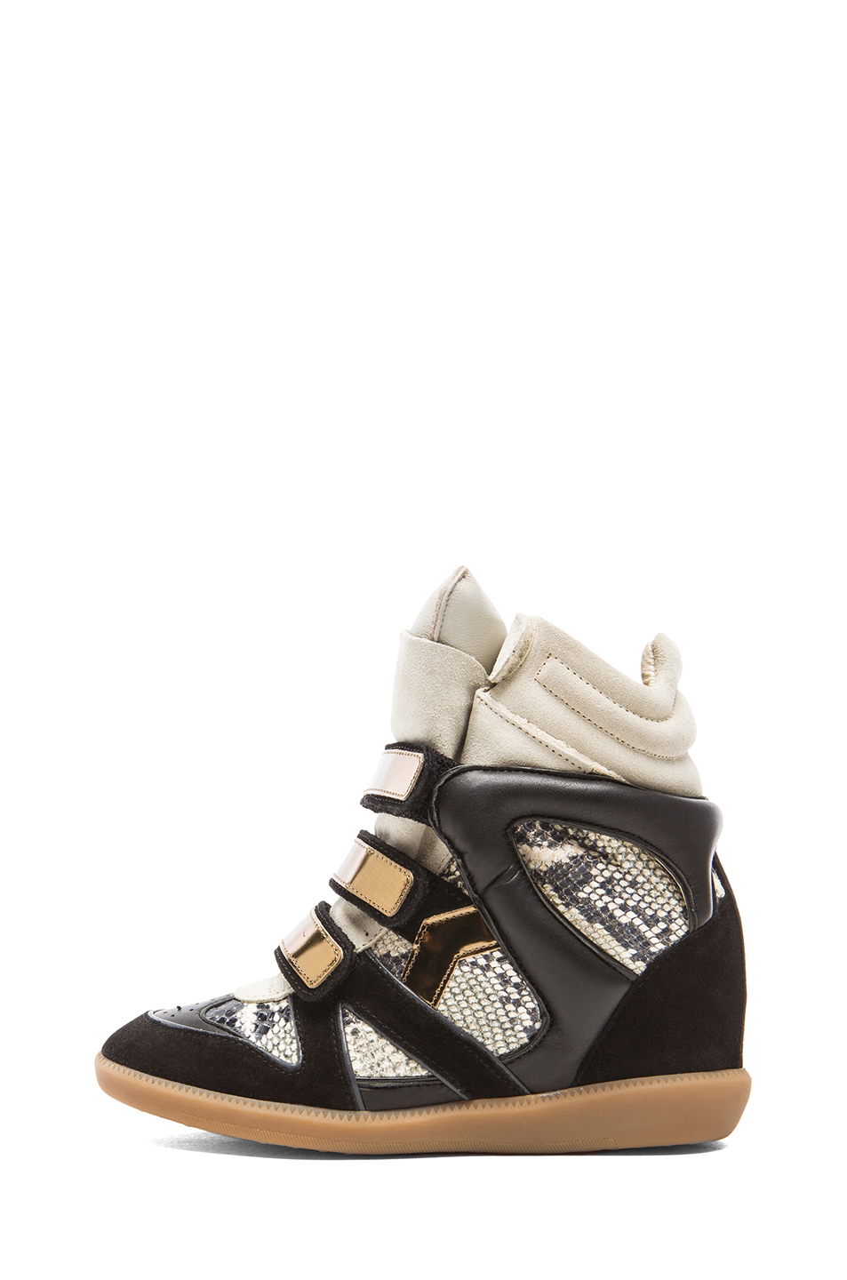 isabel marant high tops trainers in black lyst. Black Bedroom Furniture Sets. Home Design Ideas