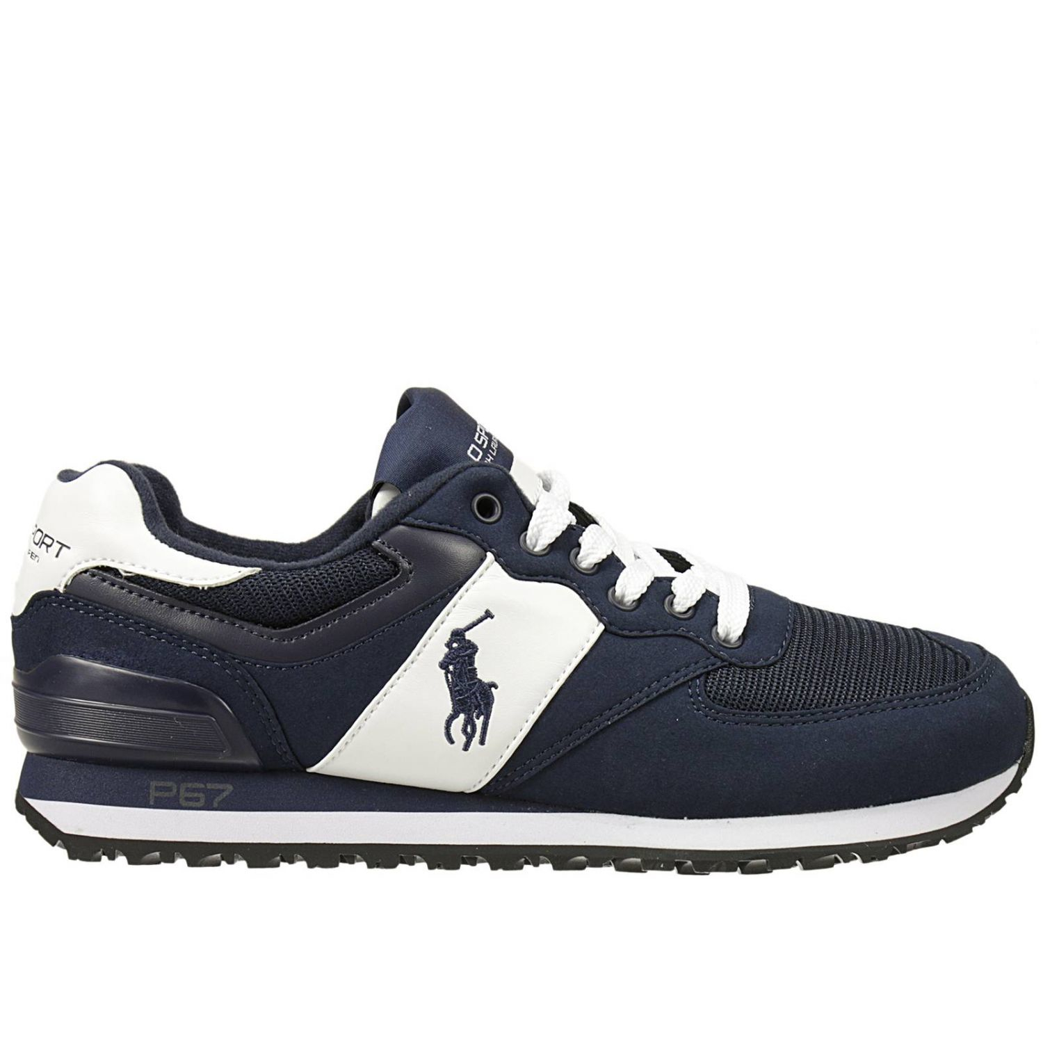 polo ralph lauren ralph lauren men 39 s sneakers in blue for men lyst. Black Bedroom Furniture Sets. Home Design Ideas