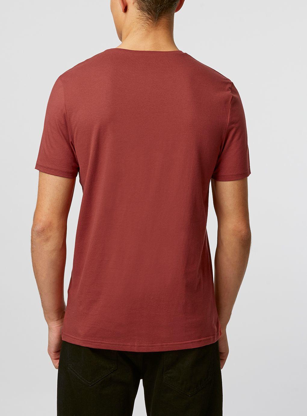 topman slim fit t shirt in red for men lyst. Black Bedroom Furniture Sets. Home Design Ideas