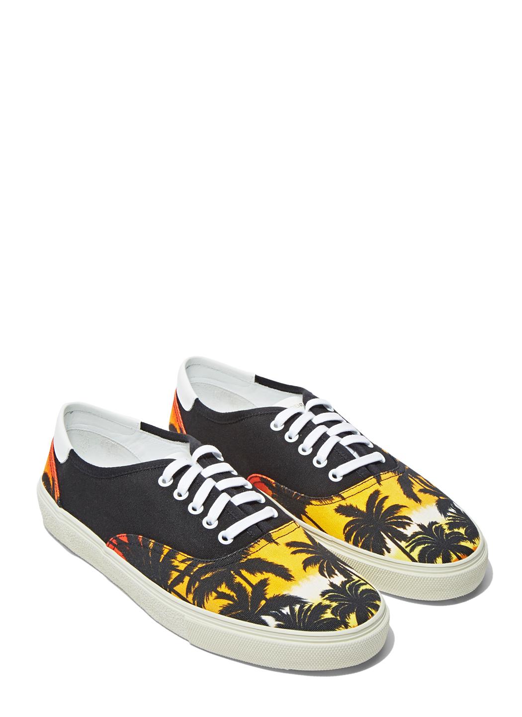 Saint Laurent Skate Shoes Black With Gold