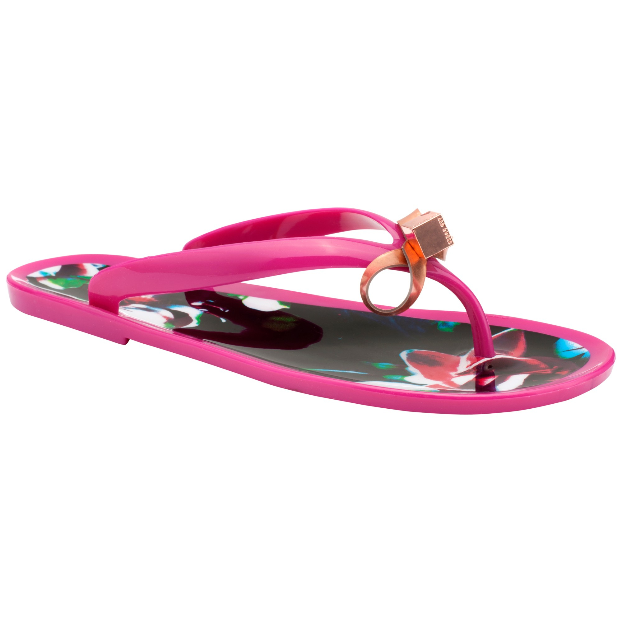a960076b604660 Ted Baker Taito Jelly Flip Flops in Pink - Lyst
