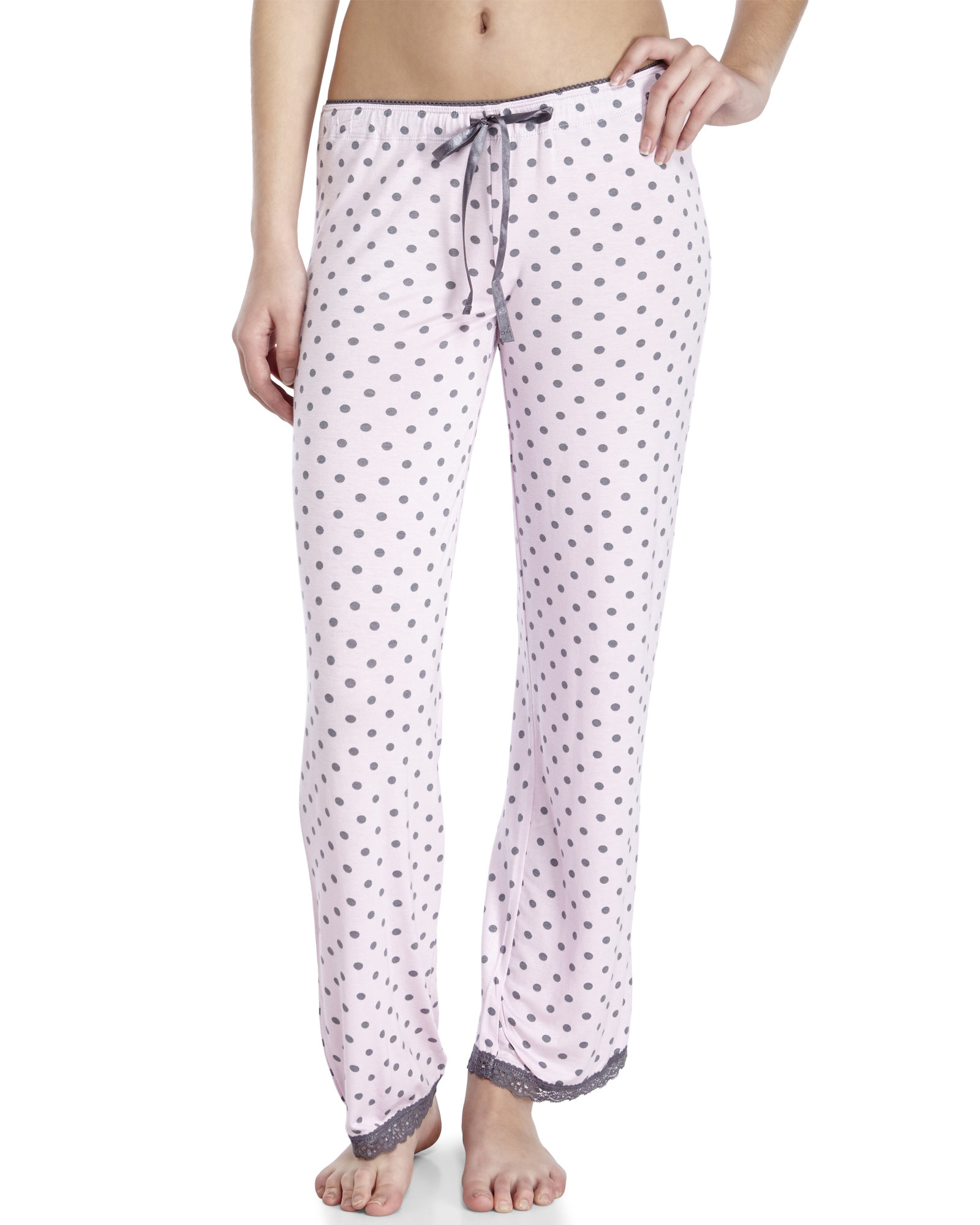 Lyst Pj Salvage Polka Dot Pajama Pants In Pink