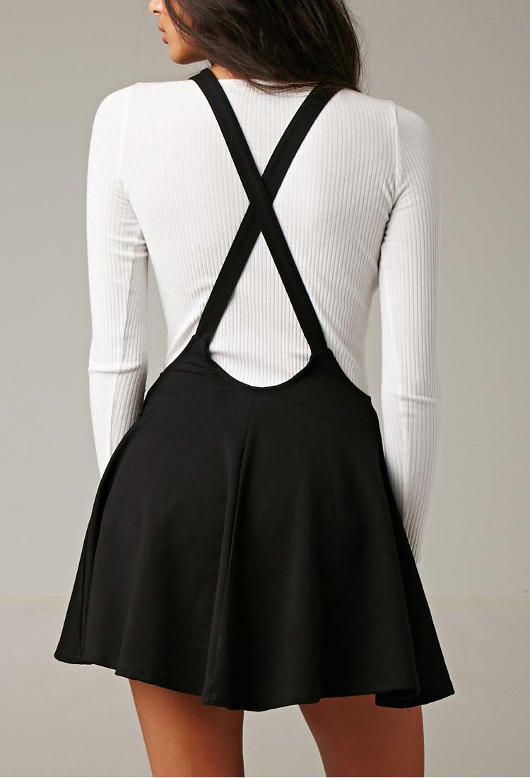 Lyst Forever 21 Gypsy Warrior Amber Suspender Skirt In Black