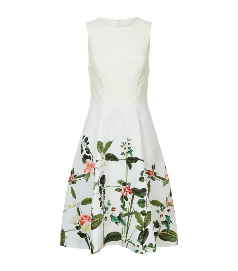 c41bb117e4504 Ted Baker Karolie Secret Trellis Dress in White - Lyst