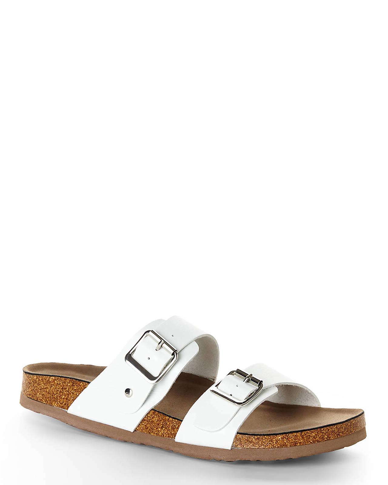 Madden Girl Brando Footbed Sandal White I17p6163