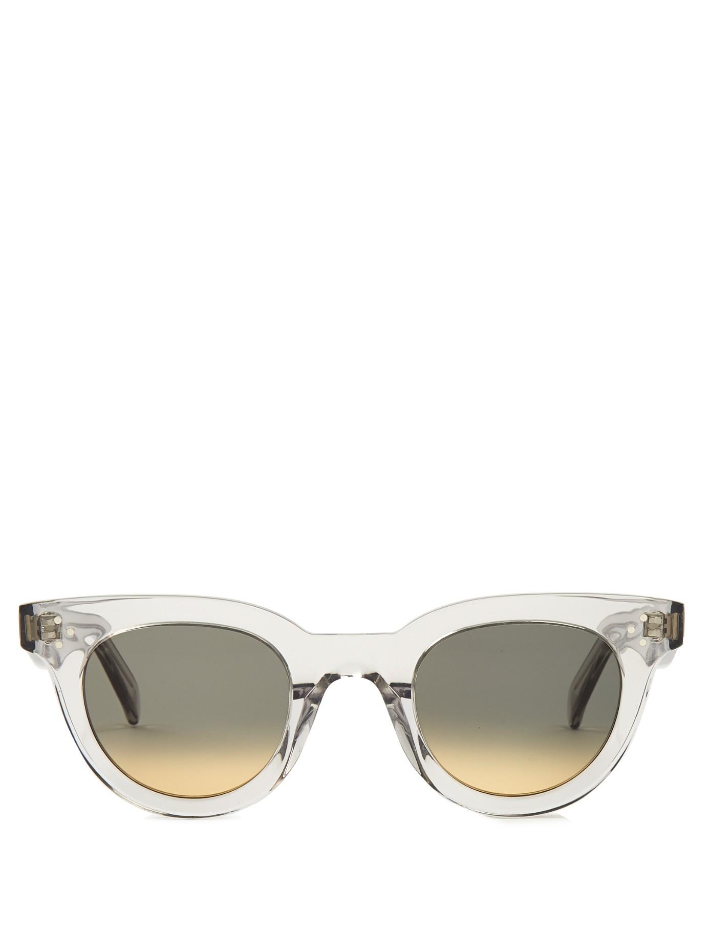 ca52adbc0eec Céline D-frame Acetate Sunglasses - Lyst