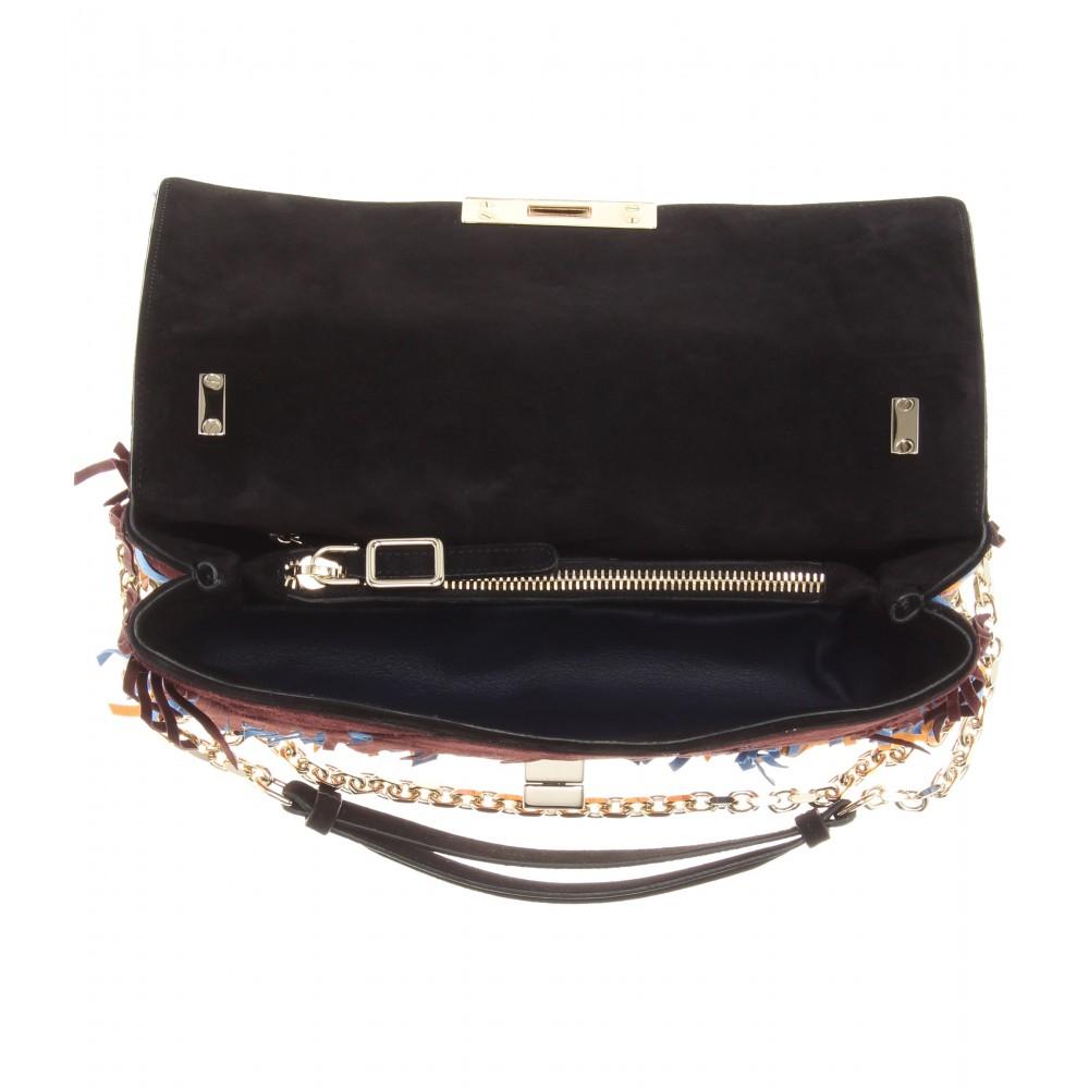 Lyst - Roger Vivier Prismick Fringe-embellished Suede Shoulder Bag ... df87f66628fe6