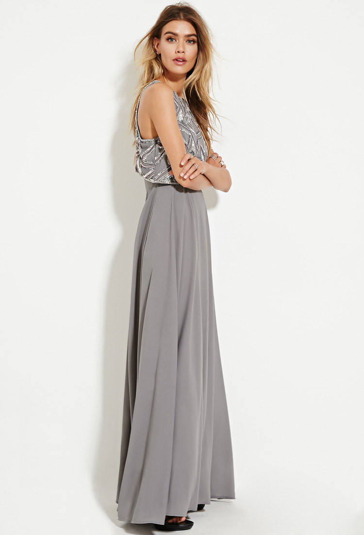 Chiffon halter maxi dress forever 21