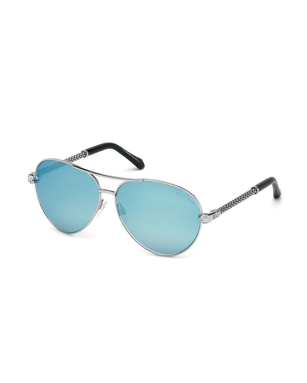 1cb8b53857 Lyst - Roberto Cavalli Mirrored Aviator Sunglasses in Pink for Men