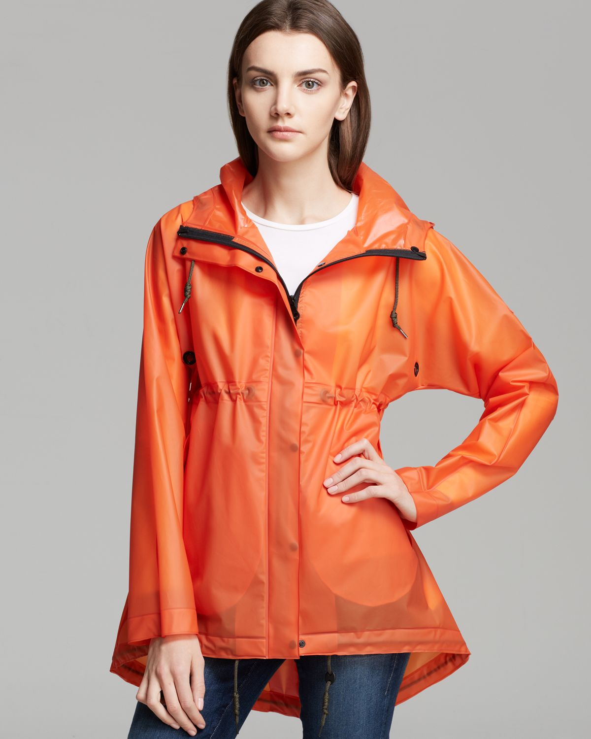 Hunter Raincoat Original Clear Smock In Orange Lyst