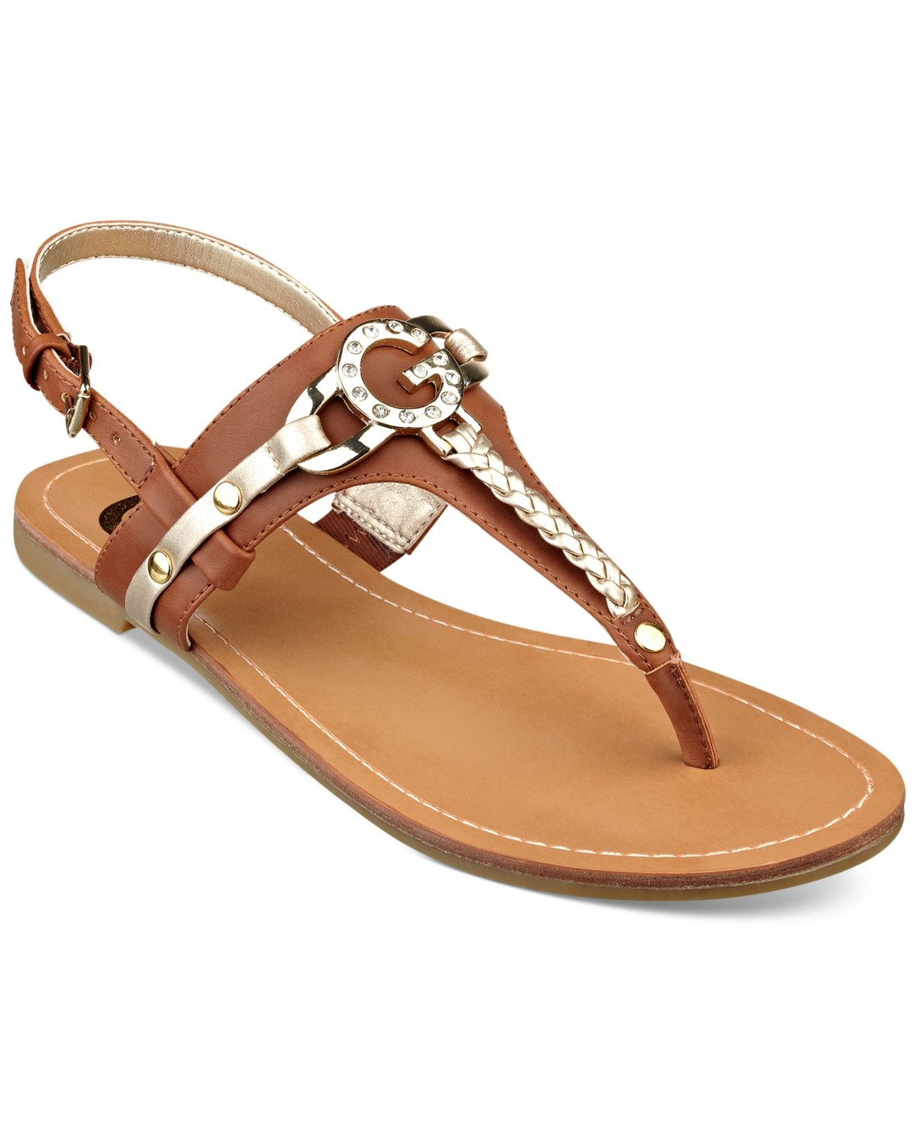 3eade6aa7e69 Lyst - G by Guess Women S Leed Flat Thong Sandals in Brown
