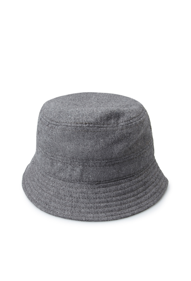 Lyst Forever 21 Heathered Wool Blend Bucket Hat In Gray For Men 419bd50a51bd