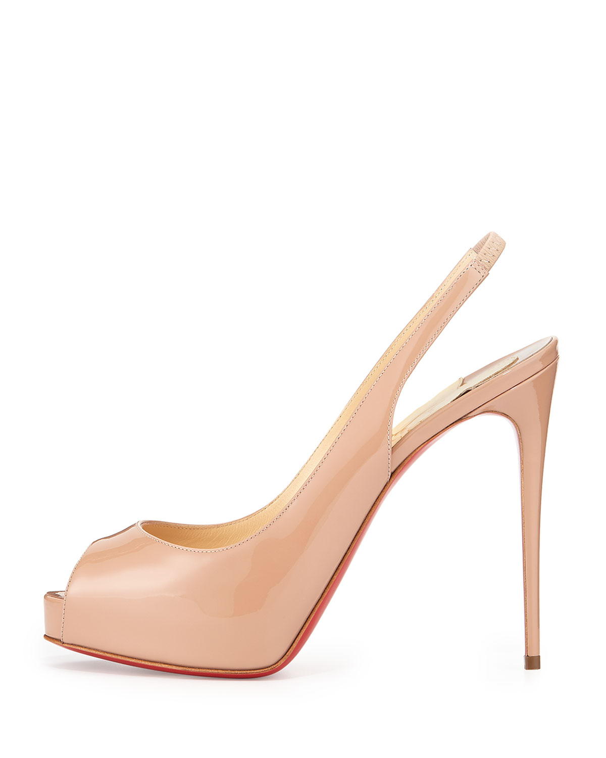 Christian louboutin Private Number Slingback in Beige (NEUTRAL) | Lyst
