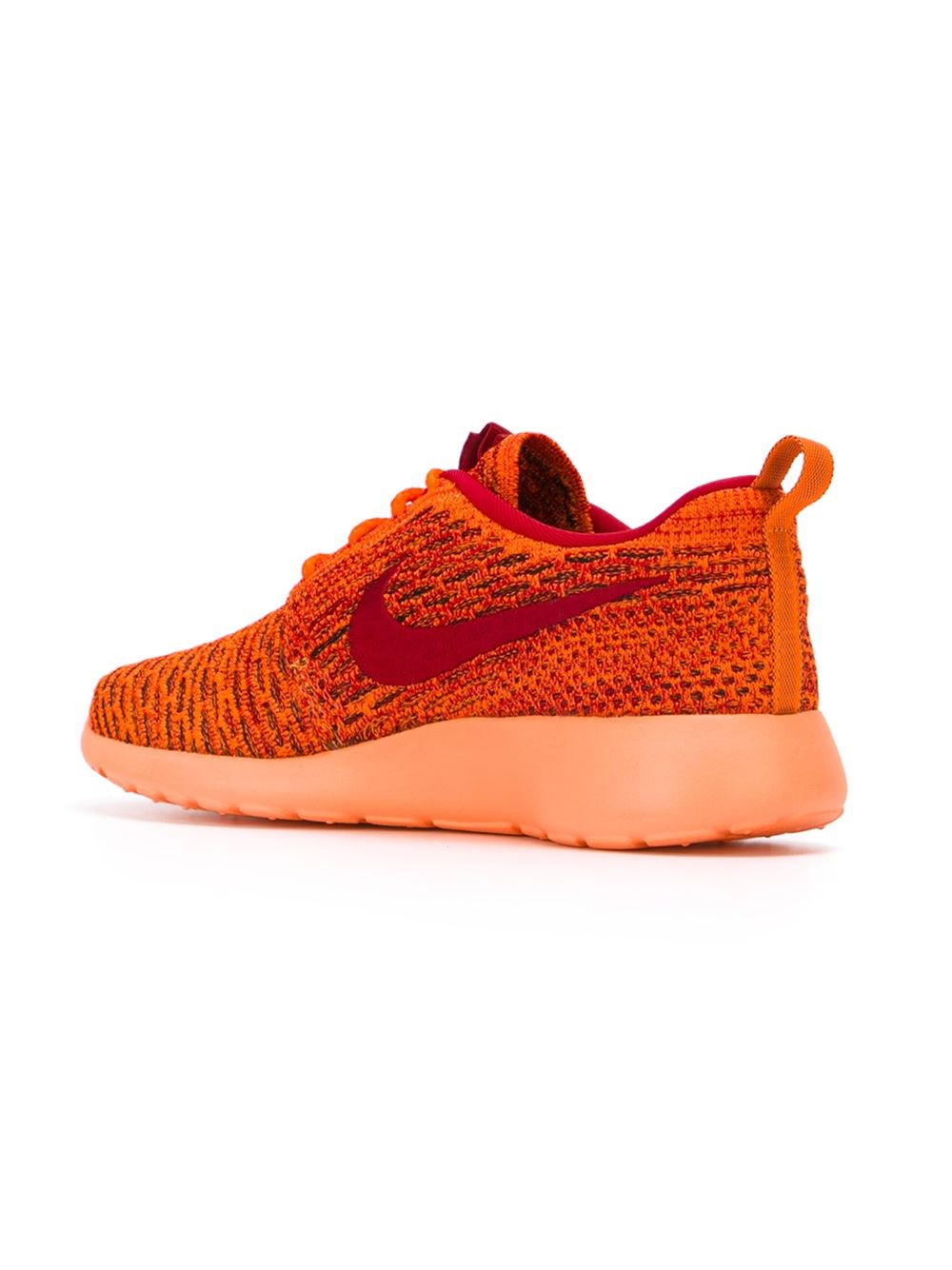 nike 39 roshe run flyknit 39 sneakers in yellow yellow. Black Bedroom Furniture Sets. Home Design Ideas