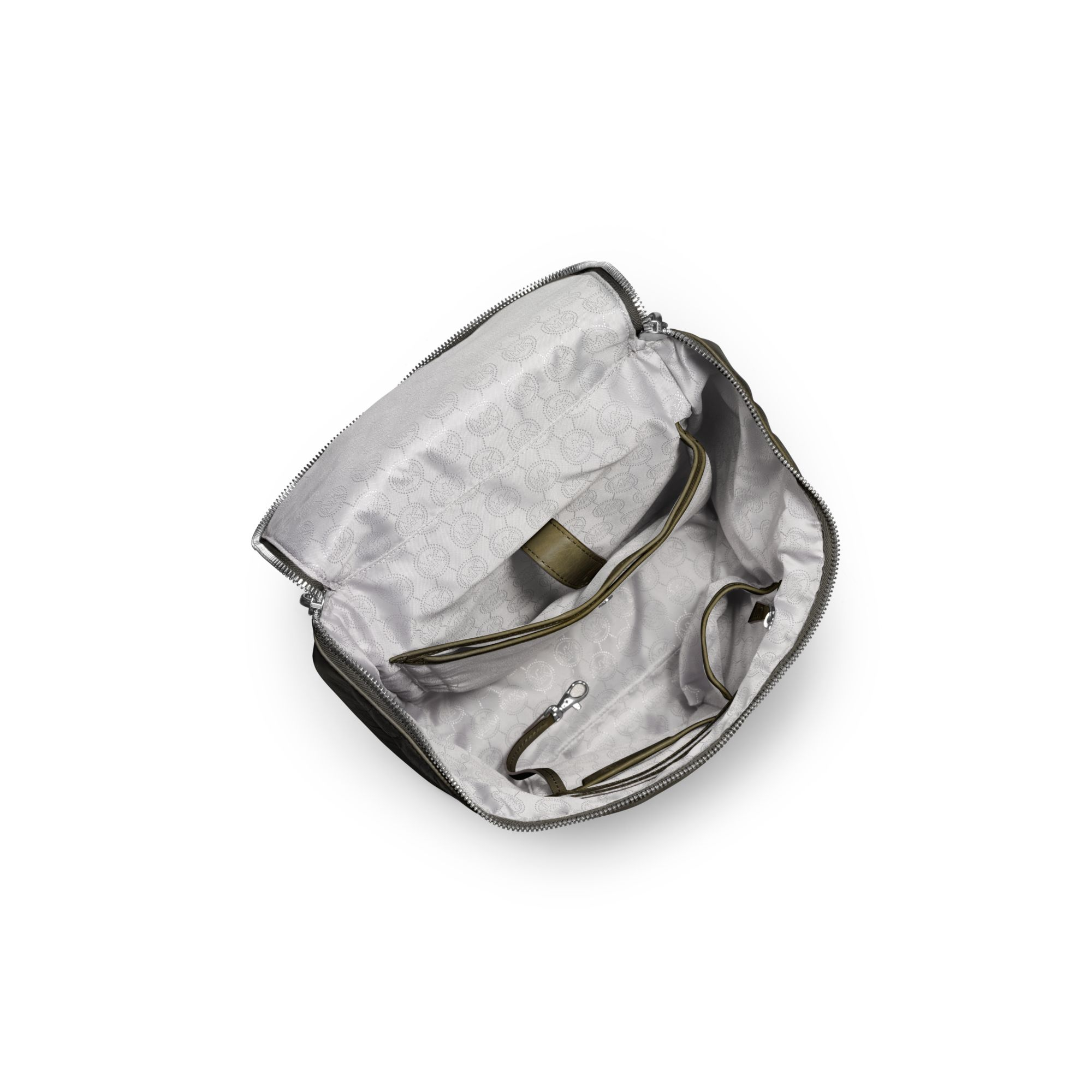 b54f29f95cdb ... get lyst michael kors lisbeth leather medium backpack in green 2e1fa  65870 ...