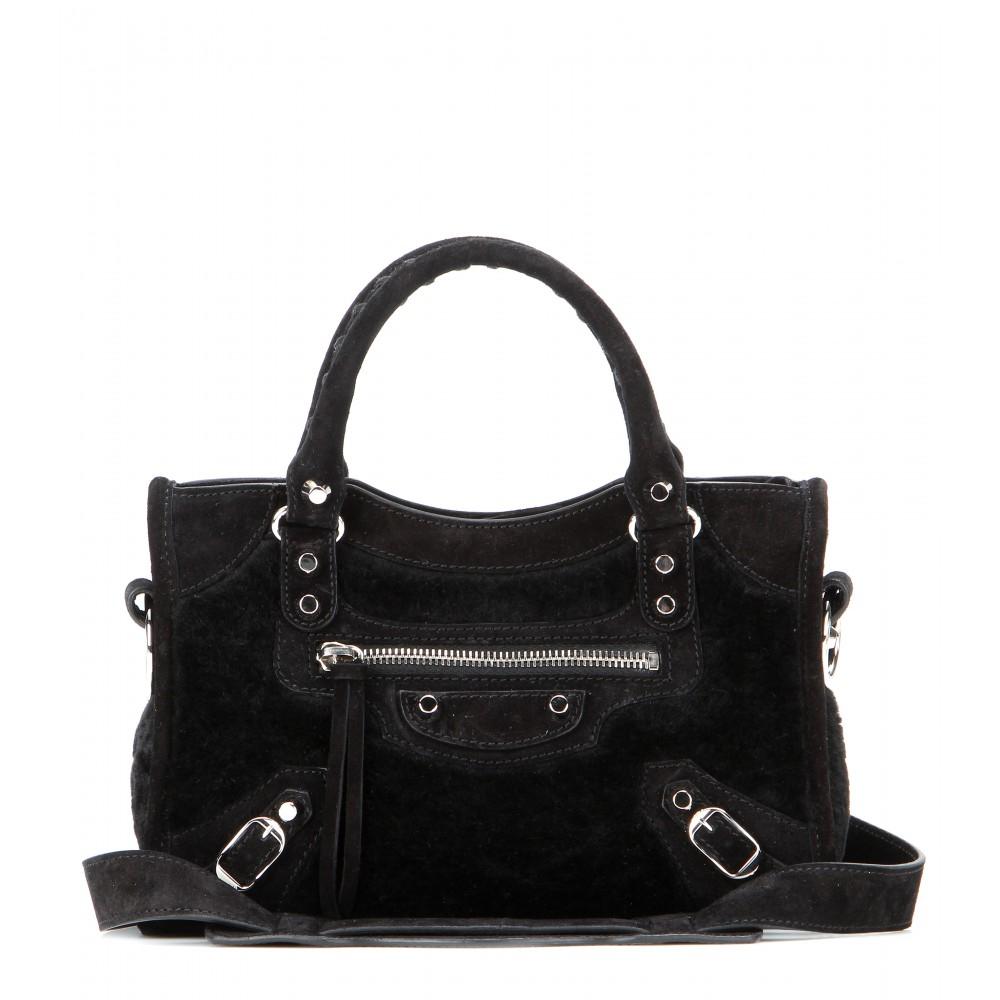 0483aa48d675 Lyst - Balenciaga Classic Mini City Shoulder Bag in Black