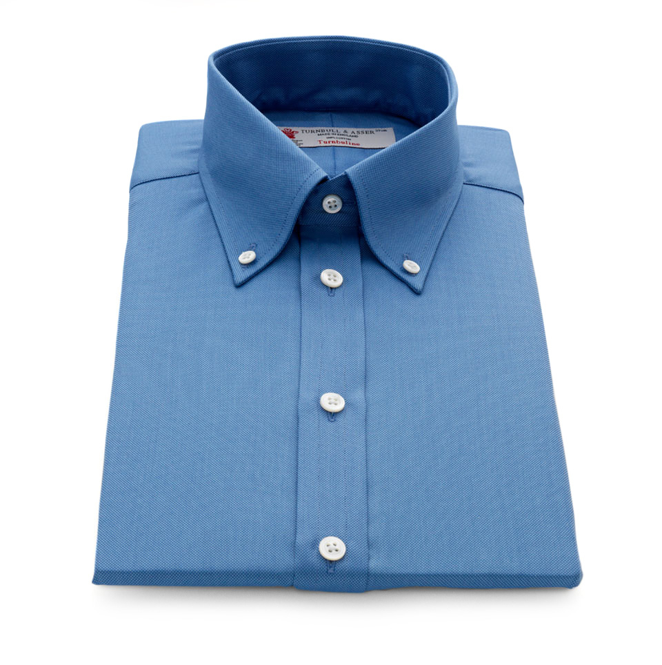 Turnbull Asser Royal Oxford Deep Blue Shirt With