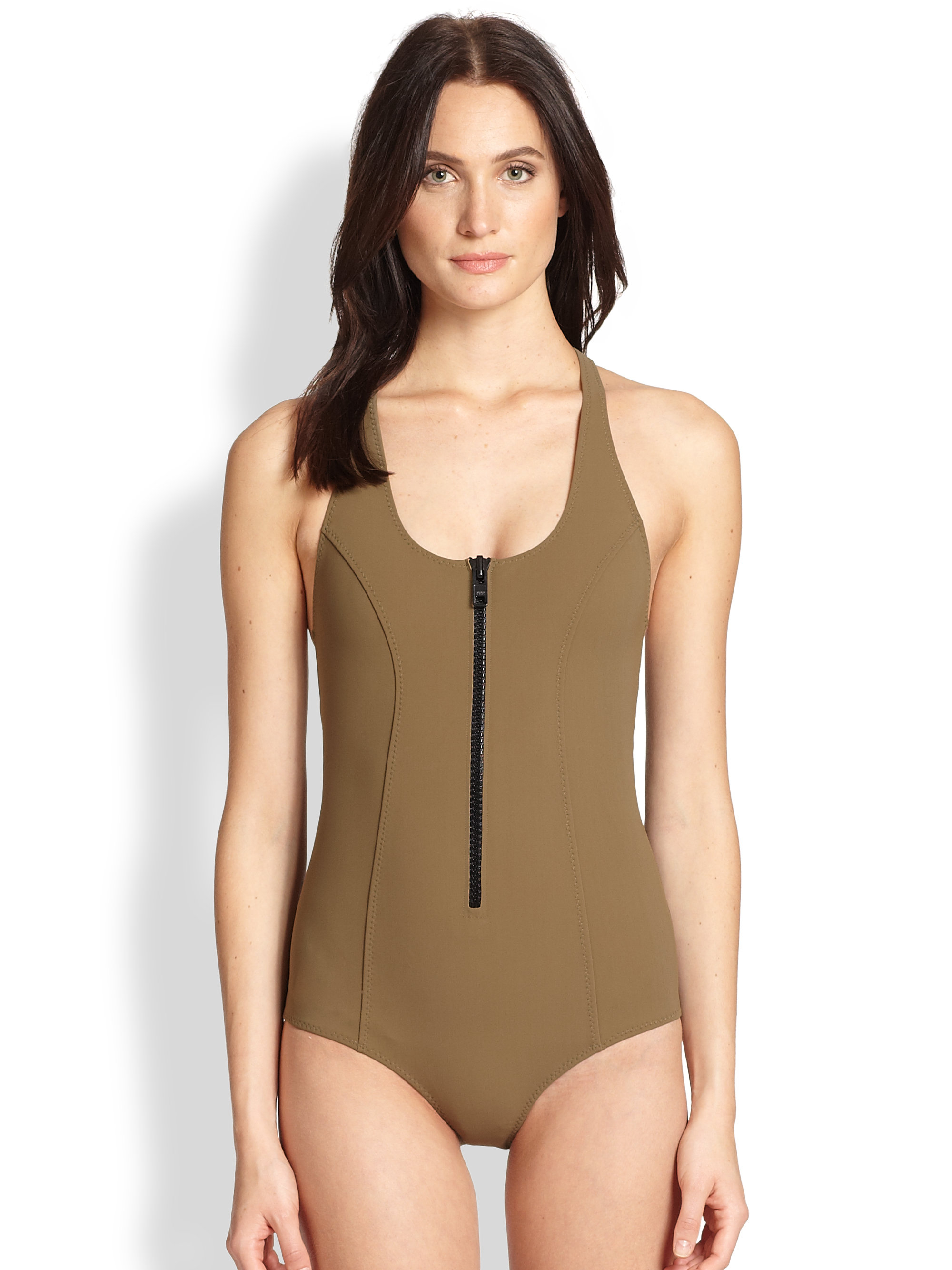lisa marie fernandez elisa maillot bonded onepiece swimsuit in natural lyst. Black Bedroom Furniture Sets. Home Design Ideas