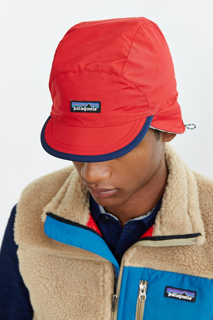 Lyst - Patagonia Shelled Synchilla Duckbill Hat in Red for Men a935bb3515e