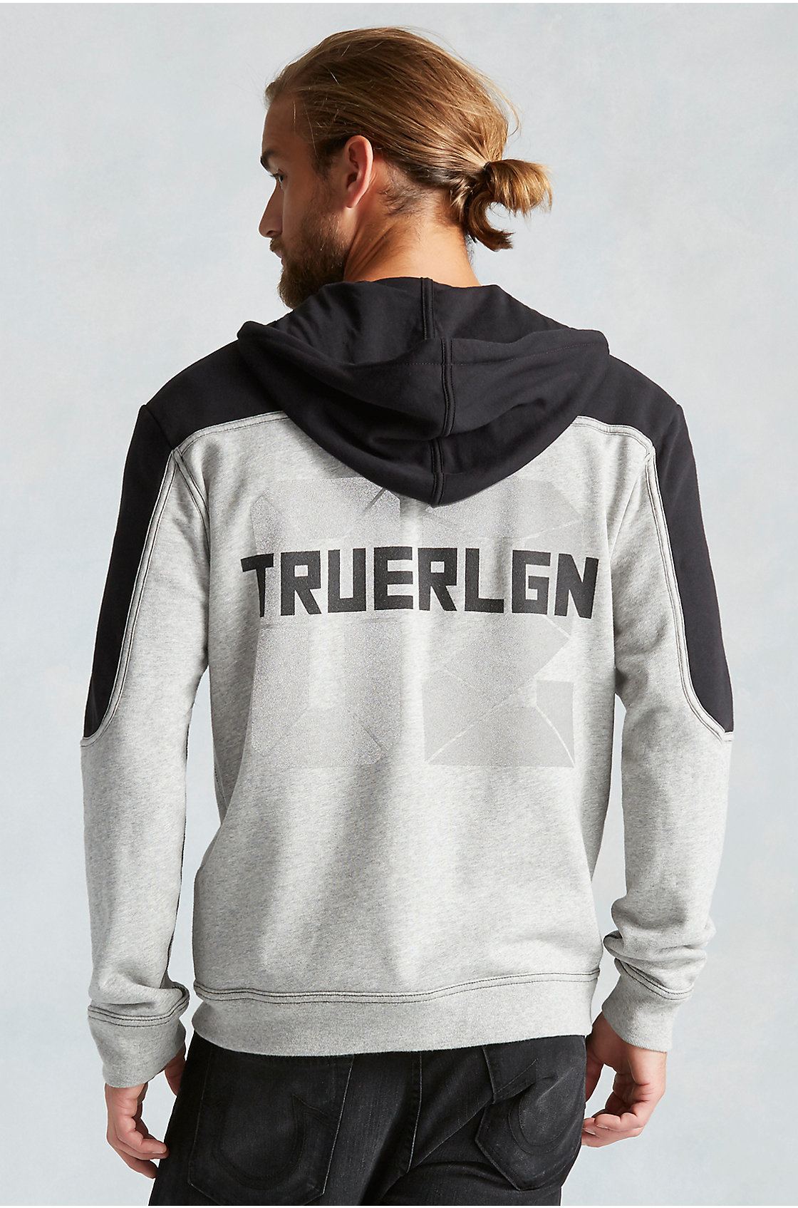 true religion marled mens hoodie in gray for men lyst. Black Bedroom Furniture Sets. Home Design Ideas