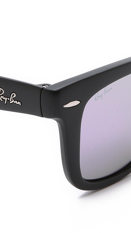 ray ban matte folding wayfarer sunglasses  gallery