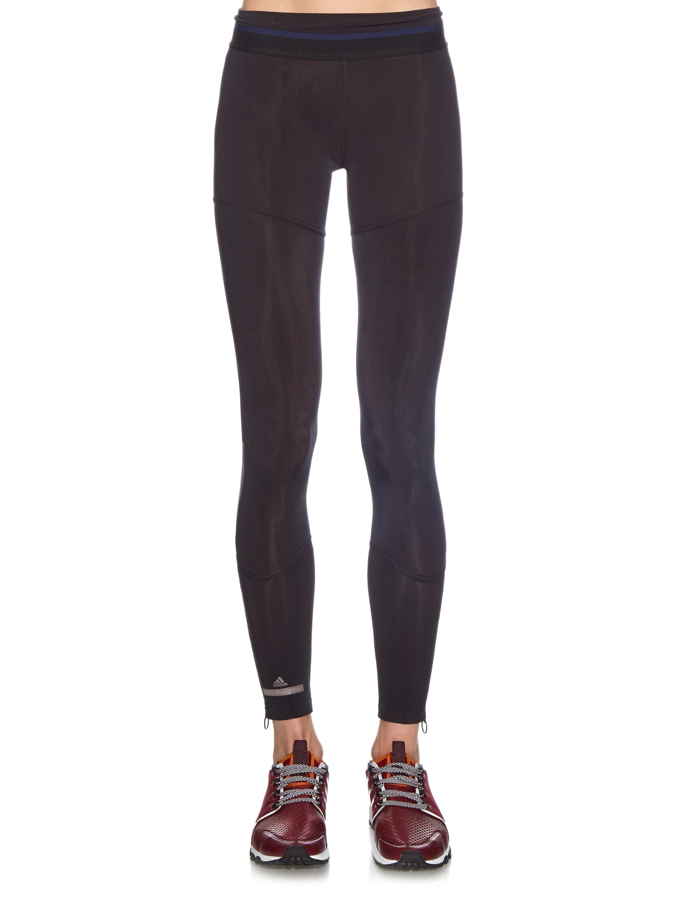 adidas by stella mccartney slim running performance leggings in black lyst. Black Bedroom Furniture Sets. Home Design Ideas