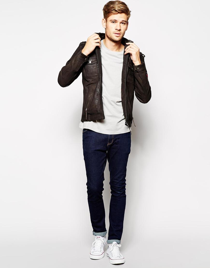 pin pepe jeans theo lederjacke black on pinterest. Black Bedroom Furniture Sets. Home Design Ideas