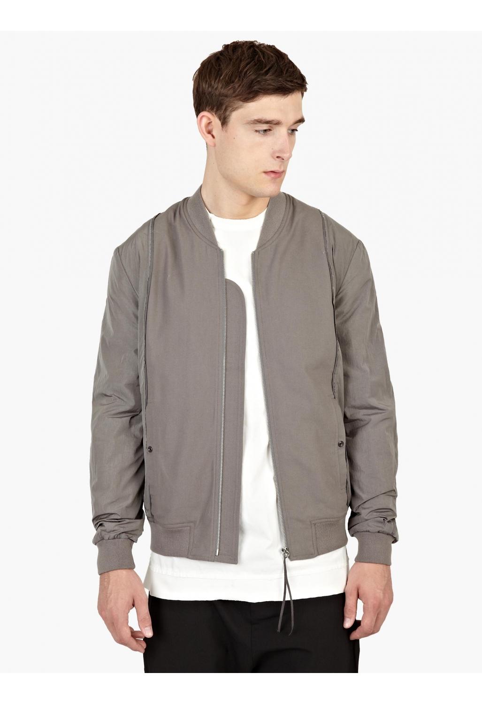 Gray Bomber Jacket | Outdoor Jacket