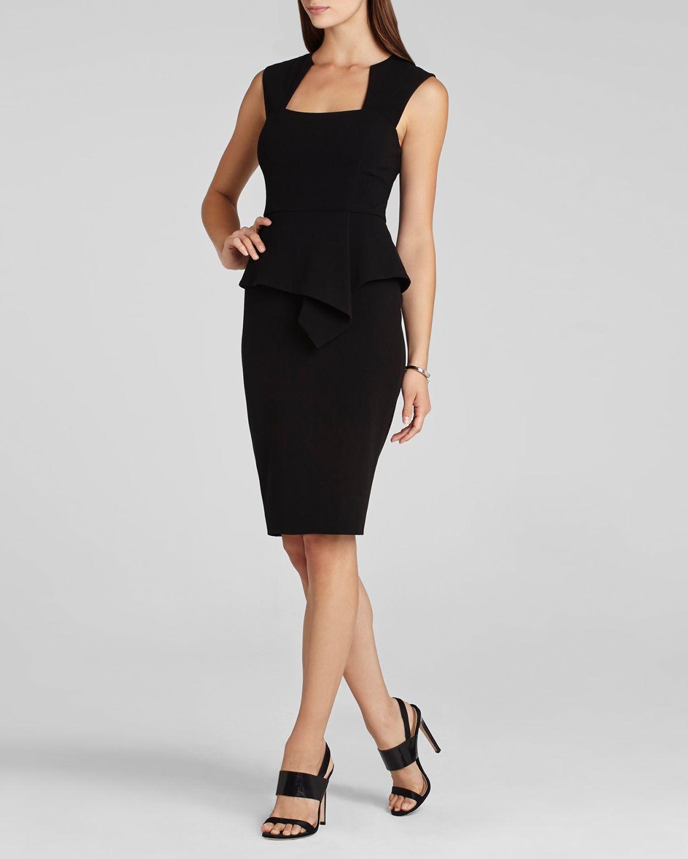 Bcbgmaxazria bcbg max azria dress simone sheath in black lyst