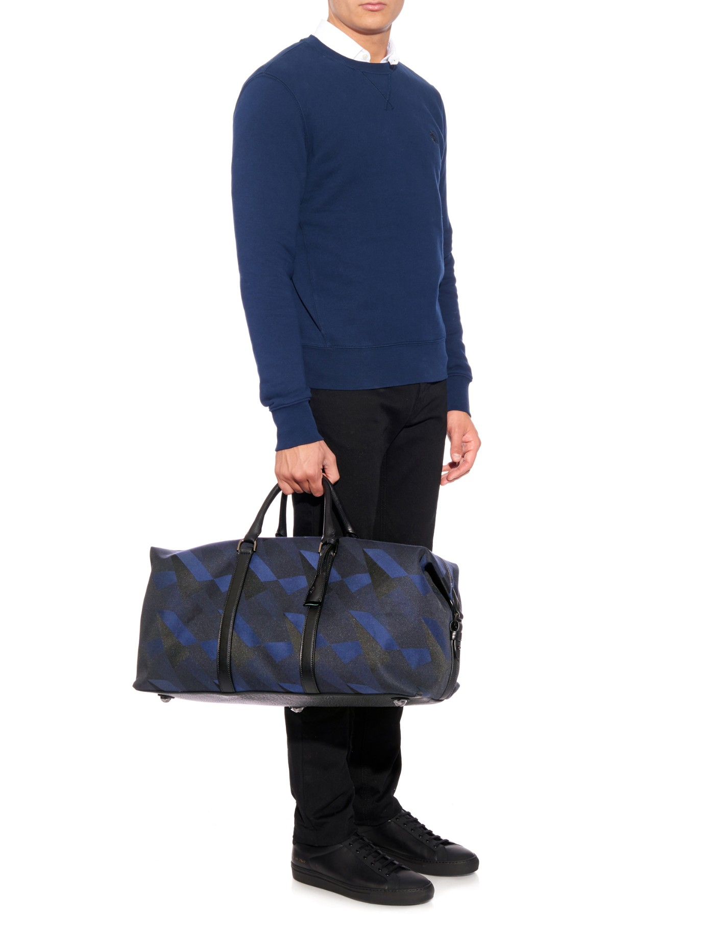 Mulberry Clipper Dazzle Camo-Print Medium Holdall in Black for Men ... c8e79589b9a42