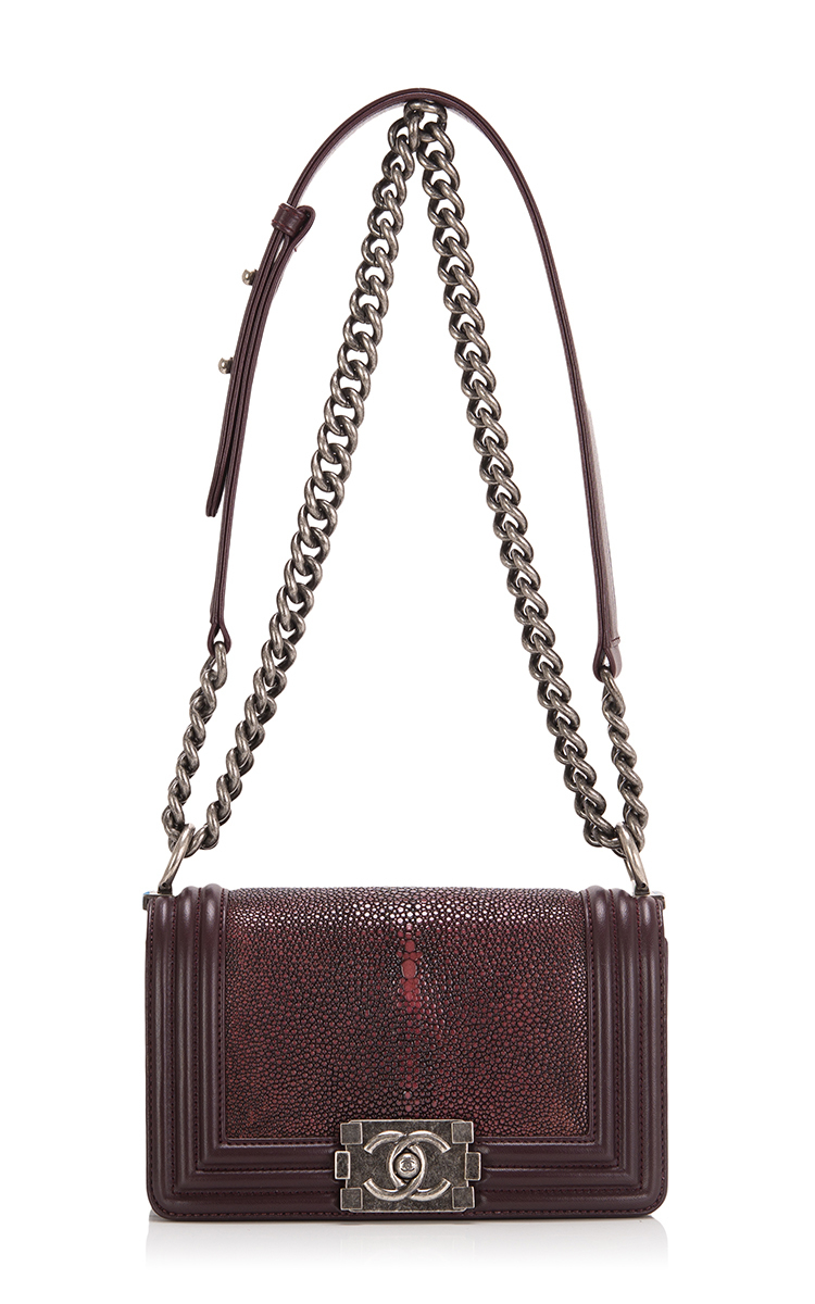 f85e5f8f49b1 Madison avenue couture Chanel Burgundy Stingray Small Boy Bag in Red | Lyst