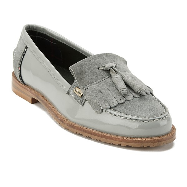 9c1cef5ee3ccc Barbour Women'S Amber Suede Tassel Loafers in Gray - Lyst