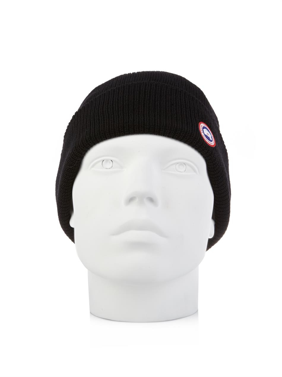 Lyst - Canada Goose Merino-Wool Watch Cap Beanie in Black for Men d191fff9e33b