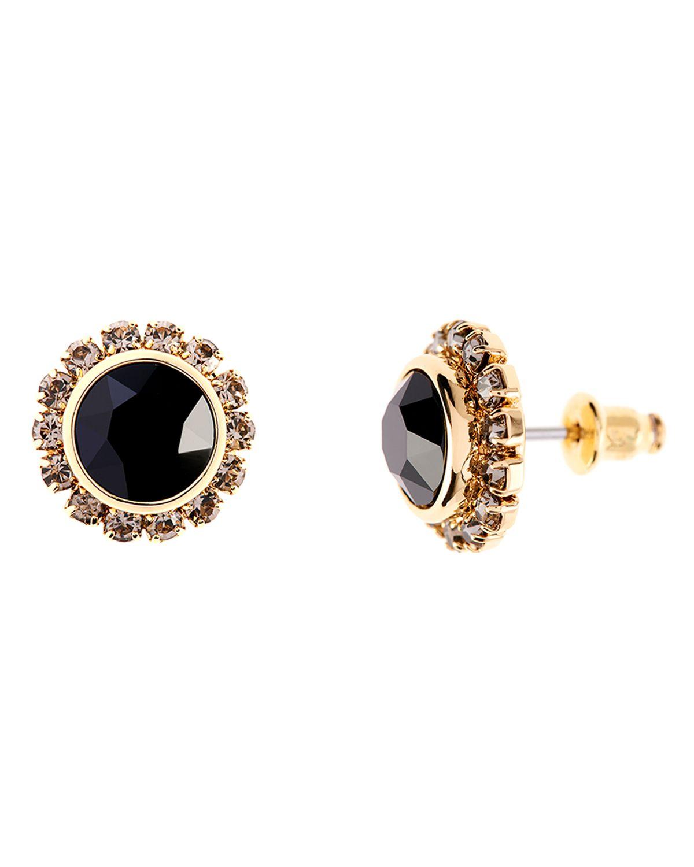 e9555a2e38e9 Lyst - Ted Baker Sully Crystal Stud Earrings in Black