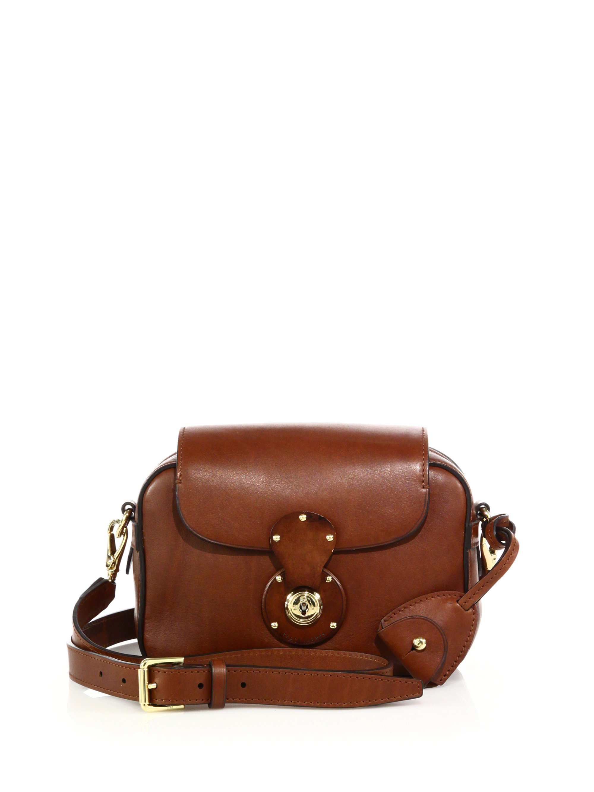Lyst - Ralph Lauren Ricky Small Leather Zip Crossbody Bag in Brown d0e1f54c8e374