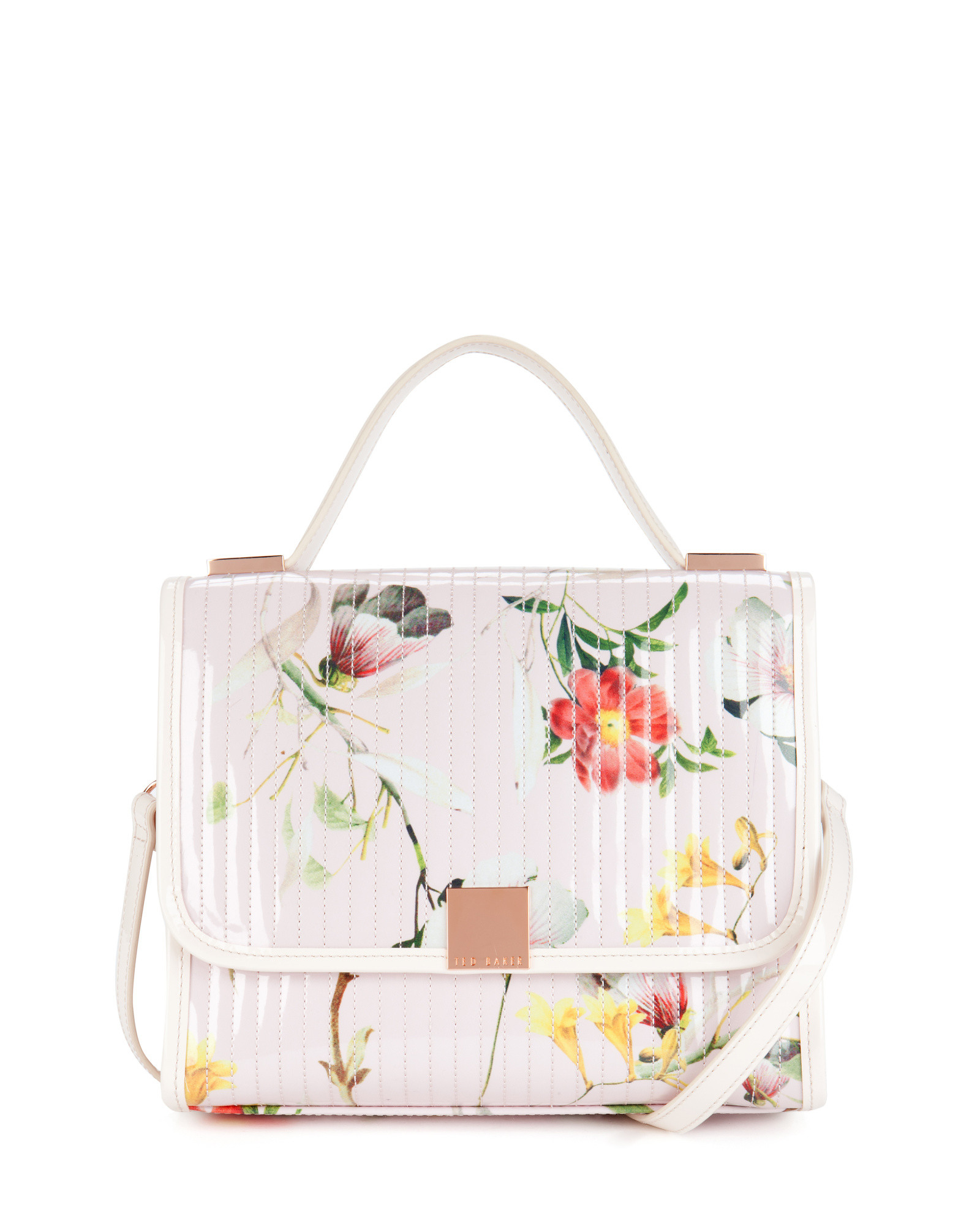 672cc39e6157b8 Ted Baker Botanical Bloom Print Lady Bag in Natural - Lyst