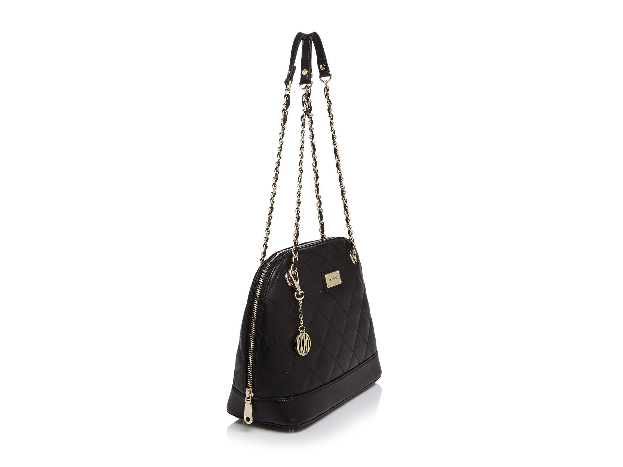 Lyst - Dkny Shoulder Bag - Quilted Nappa Medium Round in Pink : dkny quilted shoulder bag - Adamdwight.com