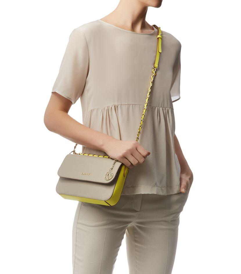 e098f5e740b8a DKNY Bryant Park Small Flap Crossbody Bag in Natural - Lyst