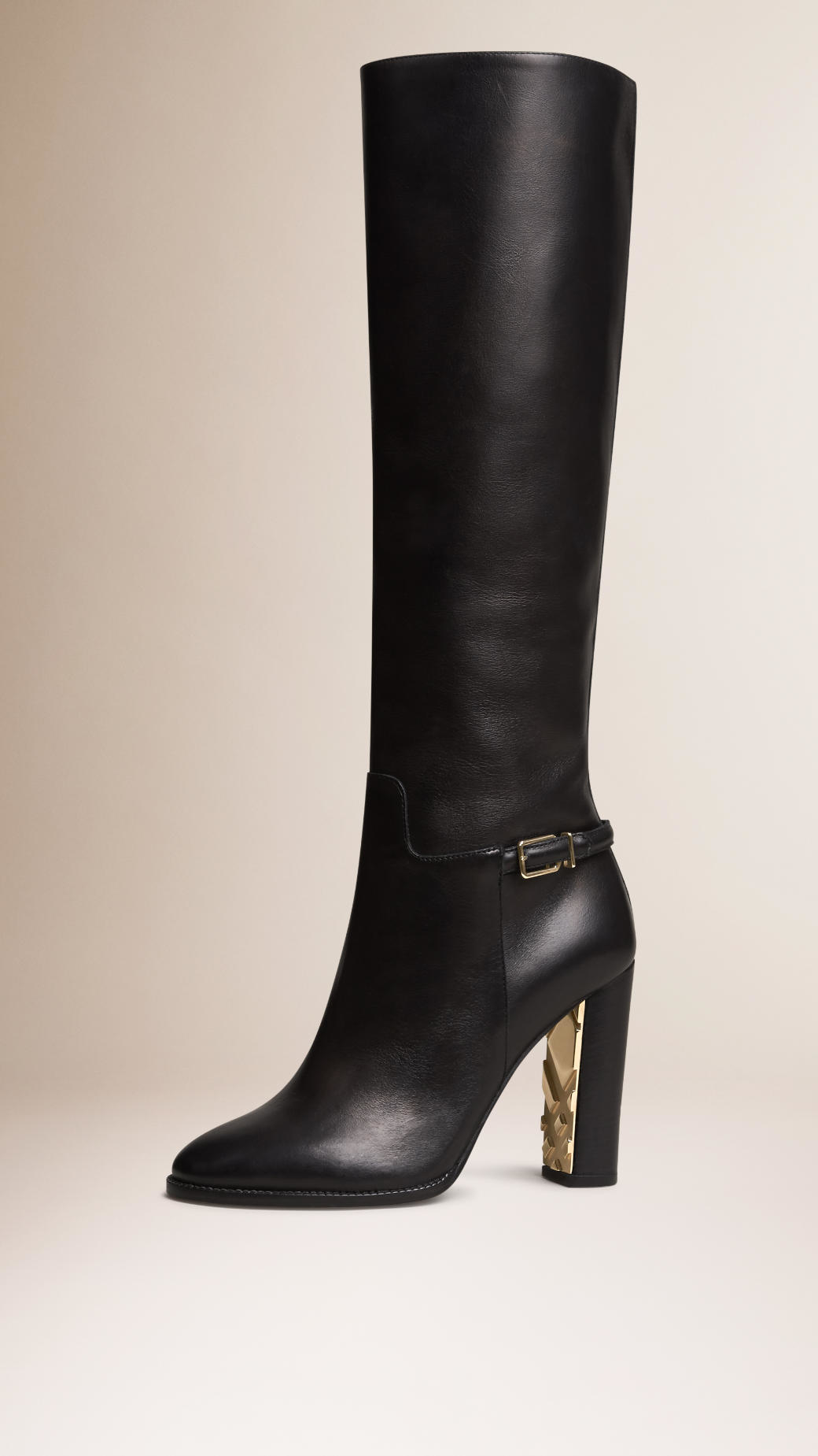 burberry knee high leather boots in black lyst