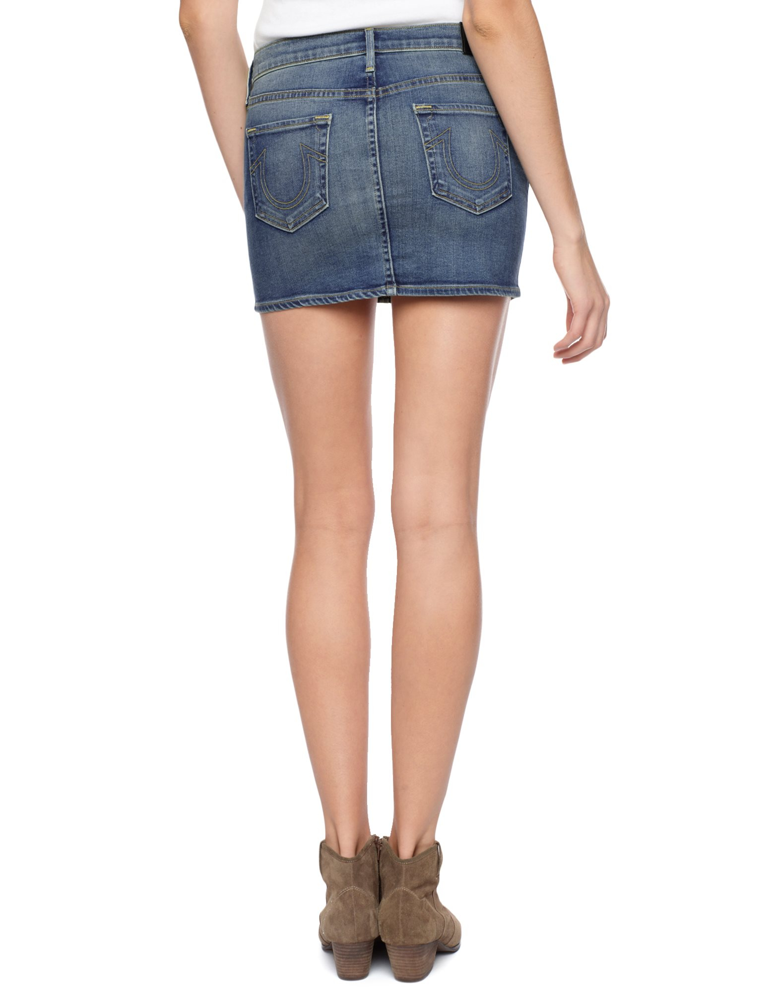 True religion Alexia Womens Denim Skirt in Blue | Lyst