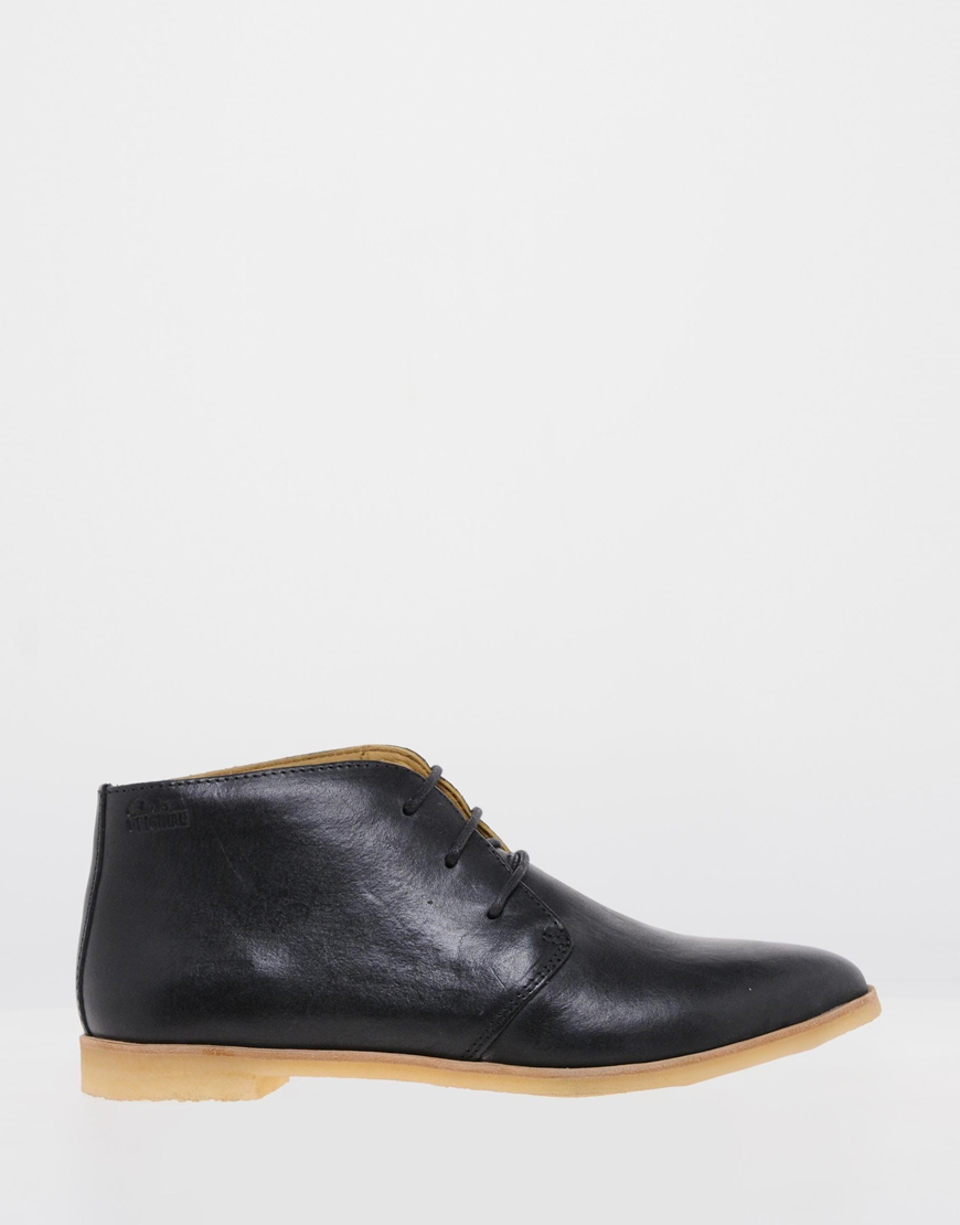 f452e0dee5 Clarks Originals Black Leather Phenia Desert Boots in Black - Lyst