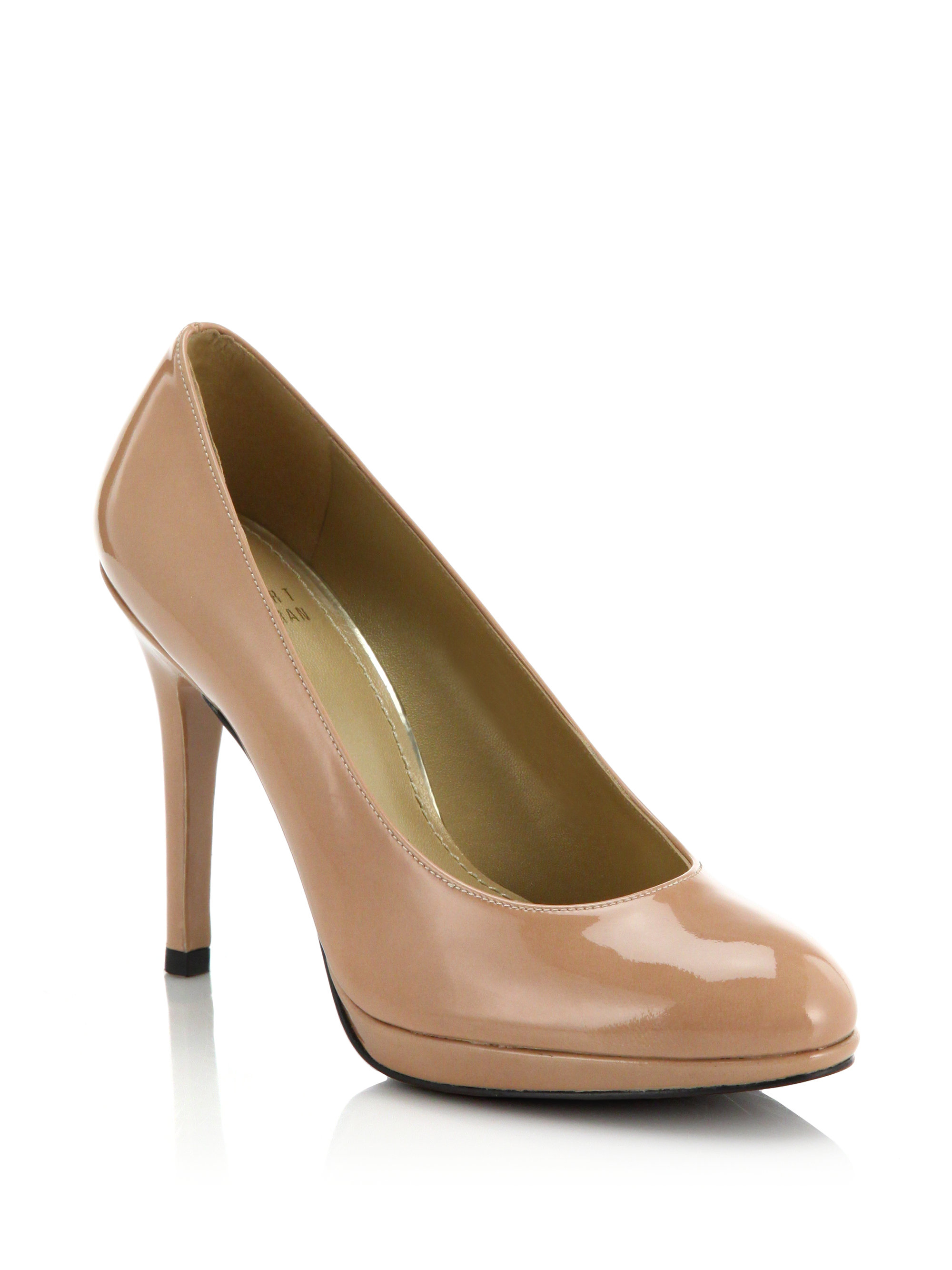 Brown Patent Court Shoes