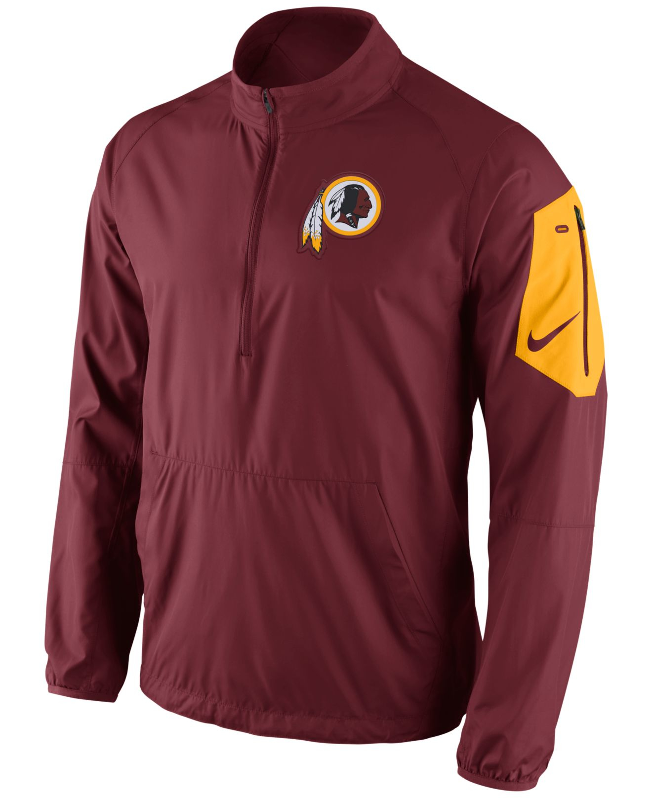 Lyst - Nike Men s Washington Redskins Lockdown Half-zip Jacket in ... d4240a400