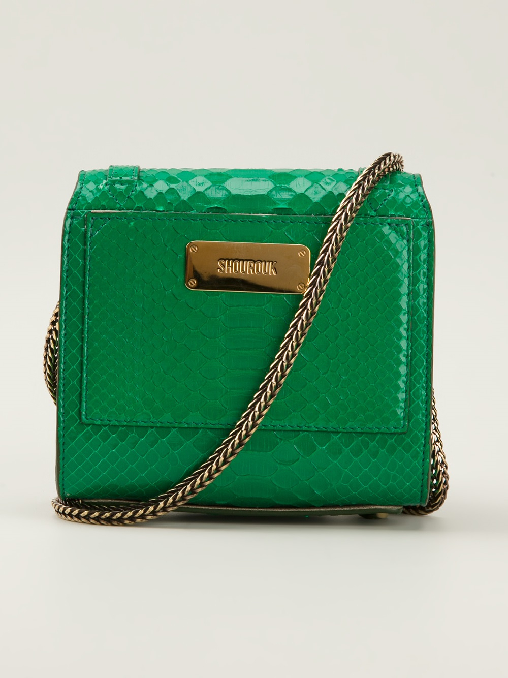 Lyst Shourouk Small Daktari Shoulder Bag In Green