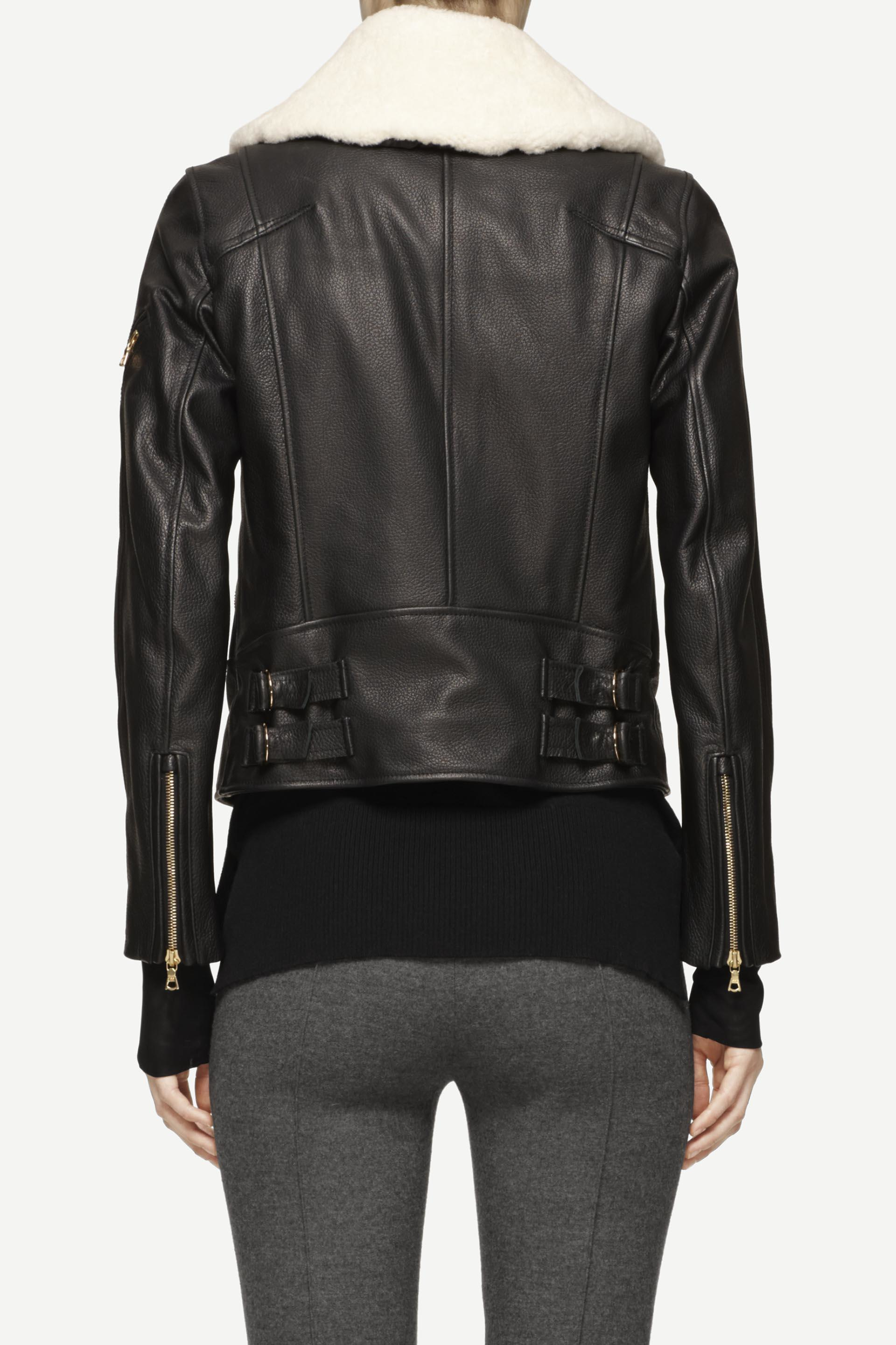 Lyst Rag Amp Bone Minerva Leather Jacket In Black