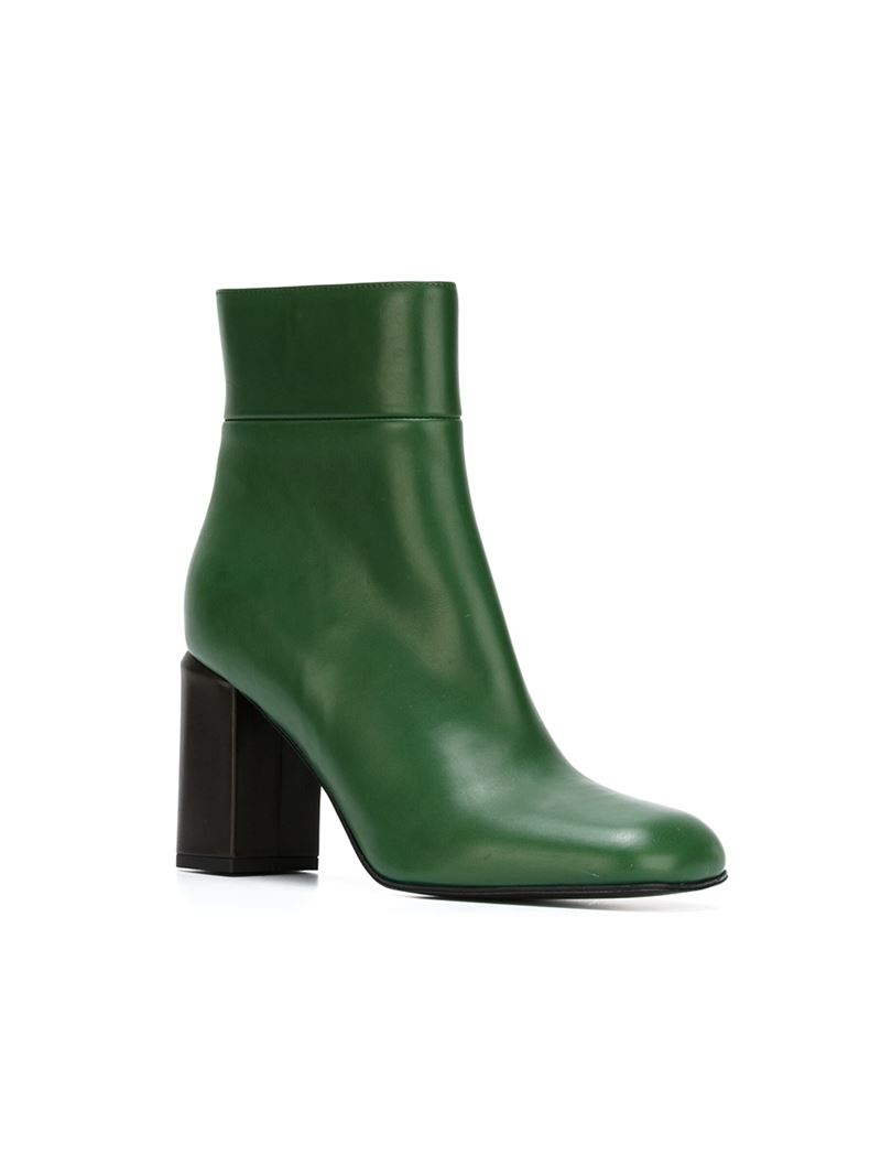 Marni Ankle Boots in Green | Lyst
