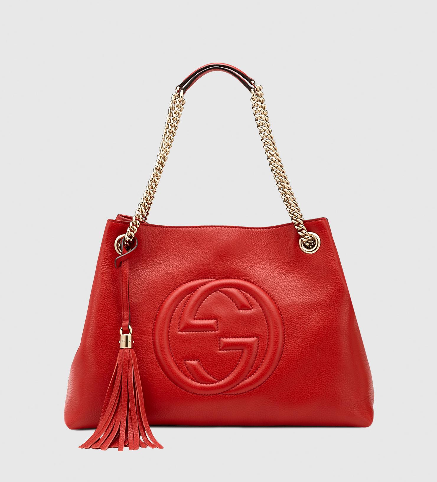 gucci soho leather shoulder bag in