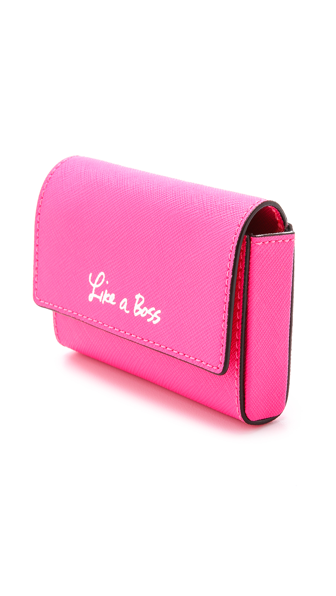 Rebecca minkoff Like A Boss Business Card Holder Electric Pink